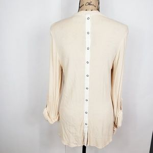 Free People Tops - Free people rayon tunic with snap back buttons